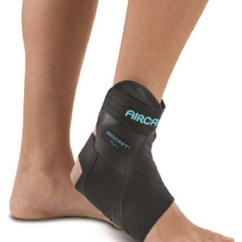 DJO AirLift PTTD Ankle Brace Support White Hook and Loop Closure