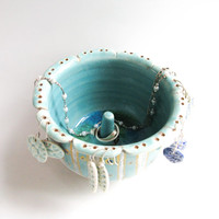 Jewelry Dish: Earring Holder, Ring Dish, All-in-One Jewelry Holder