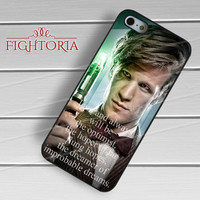 Dr Who 11th Doctor Phone Case -tri for iPhone 6S case, iPhone 5s case, iPhone 6 case, iPhone 4S, Samsung S6 Edge