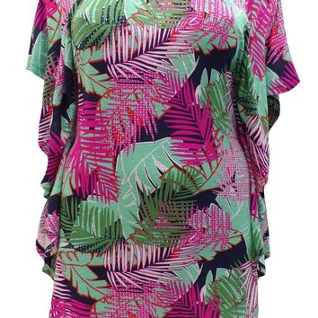 Janey Palm Print Tunic Top