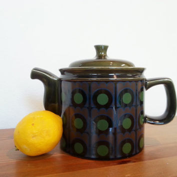Teapot, Mid Century Modern Ceramic Tea Pot, English Modern, Made in England,  Mod Kitchen Tea Breakfast, FREE US Shipping