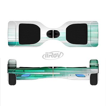The Green Abstract Vector HD Lines Full-Body Skin Set for the Smart Drifting SuperCharged iiRov HoverBoard