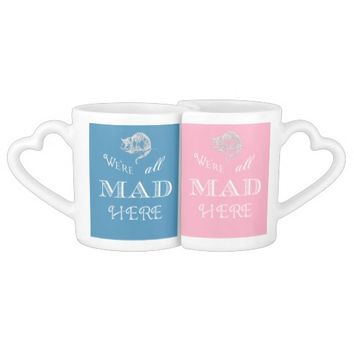 Alice in Wonderland All Mad His Hers Mug Set