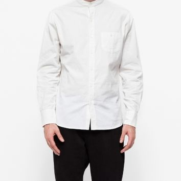 Industry of All Nations Mao Madras Shirt in White