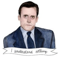 Michael Scott watercolor portrait illustration PRINT Steve Carrell the Office