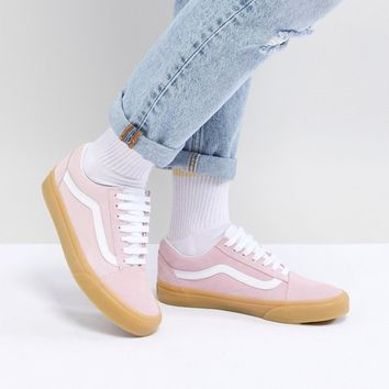 c5a5b2d503e0a0 Vans Old Skool Pastel Pink Trainers With Gum Sole at asos.com