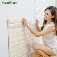 Peel and Stick 3D Wall Panel Living Room Brick Wallpaper Stickers Bedroom Kids Room Brick Self adhesive Wall Papers Home Decor