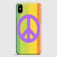 Peace iPhone X Case