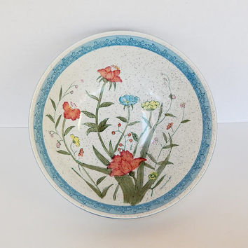 Vintage Porcelain Bowl, Andrea by Sadek, Fleurs de Chantilly