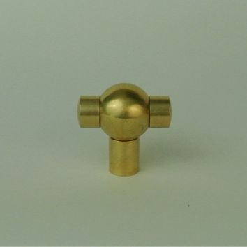 Brass T-Ball Knob - Pair