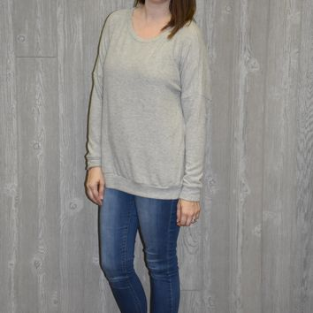 Softest Top Ever Grey Sweater