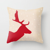 Oh Deer Throw Pillow by Sandra Arduini | Society6