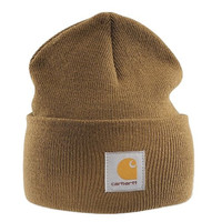 Carhartt - Acrylic Watch Cap - Canyon Brown Mens Branded winter ski hat beanie