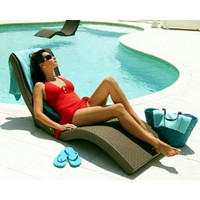 2-in-1 Splash-Lounge Chaise Lounge & Pool Floater Chair