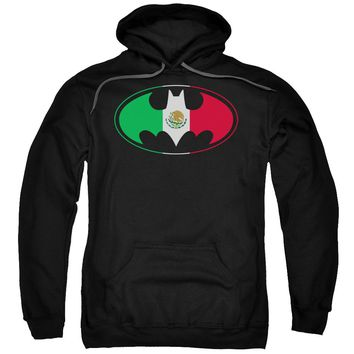 Batman - Mexican Flag Shield Adult Pull Over Hoodie