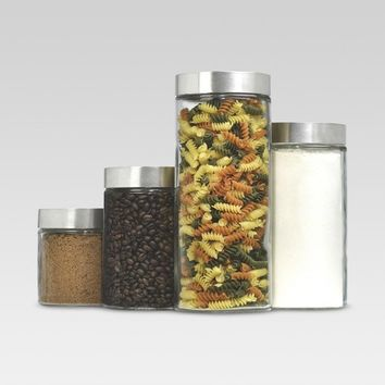 Glass Cylinder Canister Set of 4 - Threshold™