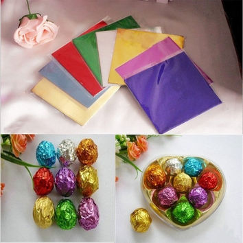 100x DIY Kichen Tools Candy Chocolate Sweets Square Foil Wrapper Package Paper = 5658089857