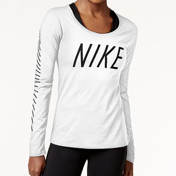 Nike Dry Legend Logo Long-Sleeve Training Top | macys.com