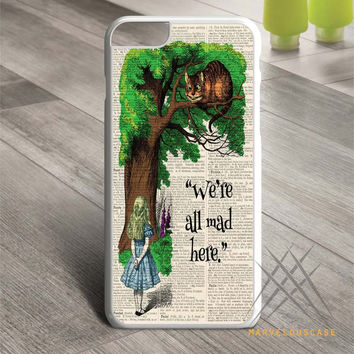 Alice and the Cheshire Cat Custom case for iPhone, iPod and iPad