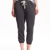 Old Navy Womens Cropped Terry Fleece Lounge Pants