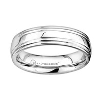 Cobalt Chrome Wedding Band - Men (Grey)