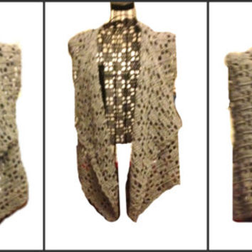 Asymmetric Vest Shrug Crochet Lightweight Handmade Avant-Gard Unbalanced Design Ready to Ship