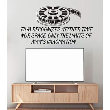 Vinyl Wall Decal Film Strip Quote Cinema Movie Filming Stickers Unique Gift (ig4865)