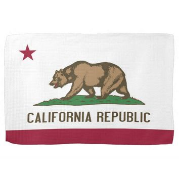 Kitchen towel with Flag of California, U.S.A.
