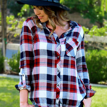 It's A Plaid World Top