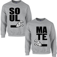 STICK TOGETHER SOUL & MATE COUPLE SWEATSHIRT
