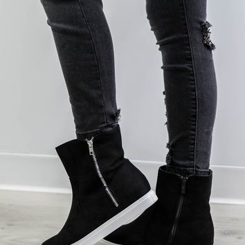 Common Sense Black Sneaker Boots