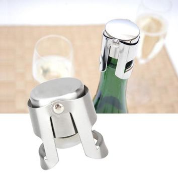 1pc Portable Stainless Latches and Silicone Sealer Champagne Sparkling Wine Bott