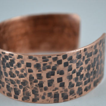 Textured Copper Cuff, Copper Bracelet, Cuff Bangle, Copper Cuff, Copper Jewelry, Handcrafted Jewelry, Unisex Jewelry, Patina Cuff