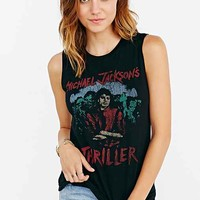 Michael Jackson Thriller Muscle Tank- Black