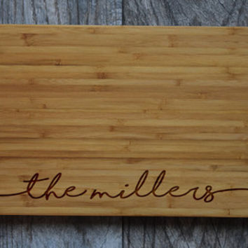 Personalized Cutting Board Wedding - from OurCuttingBoard on Etsy