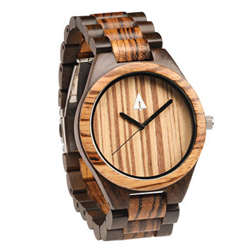 All Wood Watch // Zebrawood + Ebony 47