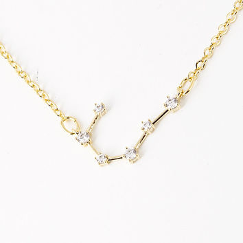 Cancer Constellation Zodiac Necklace (06/22-07/22) - As seen in Real Simple, People & more