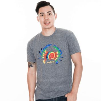 Rainbow Tie Dye Crab (Heather Grey) / Shirt