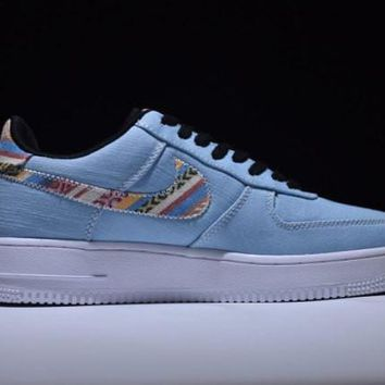 Nike Air Force Afro Punk Denim Pack Armory Blue Unisex Shoes Sneakers