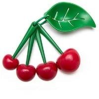 Mon Cherry Measuring Spoons and Egg Separator - PRE-ORDER, SHIPS EARLY JUNE