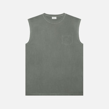 Sleeveless Pocket Tee / Olive