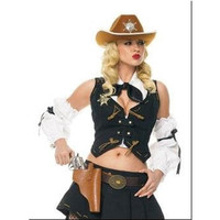 Leg Avenue Womens Halloween Party Costume Sheriff Kit