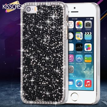 KISSCASE Crystal Diamond Case for iphone 5 5s Bling Rhinestone Lovely Fashion Cover for Apple 5S Cover Cute Phone Accessories