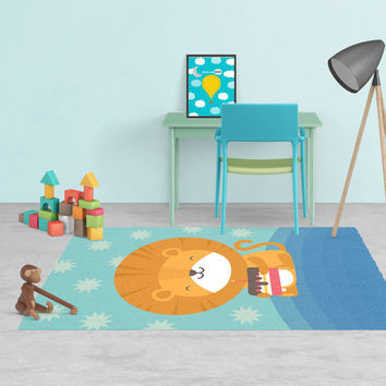 Lion Rug - Kids rugs - Affordable Rugs - Nursery Area Rugs