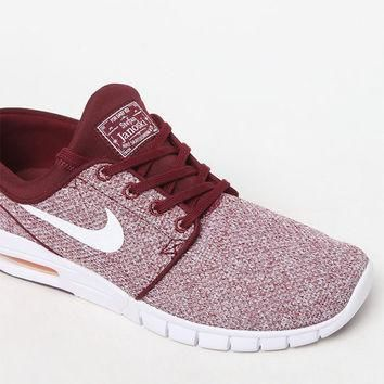 Nike SB Stefan Janoski Max Knit Red & White Shoes at PacSun.com