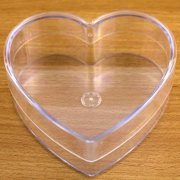 Heart Shaped Box Fillable Transparent Plastic Container