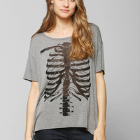 Corner Shop Burnout Skeleton Tee - Urban Outfitters
