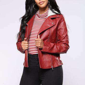 Rebel Ways Moto Jacket - Red