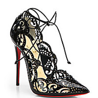 Christian Louboutin - Impera Lasercut Patent Leather Pumps - Saks Fifth Avenue Mobile