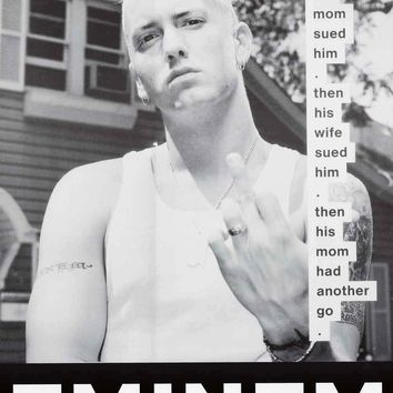 Eminem Family Problems Poster 24x33